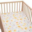 Sunny Drap housse Pati'Chou 100% Coton motif abstrait pour lit bébé et enafant