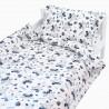 Хипо - 100% памук бебешки спален комплект (торба и калъфка)