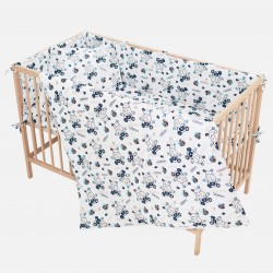 Hippo Fitted Sheet Pati'Chou 100% Cotton floral pattern for baby and kid bed