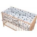 Hippo Drap housse Pati'Chou 100% Coton motif fleurie pour lit bébé et enafant