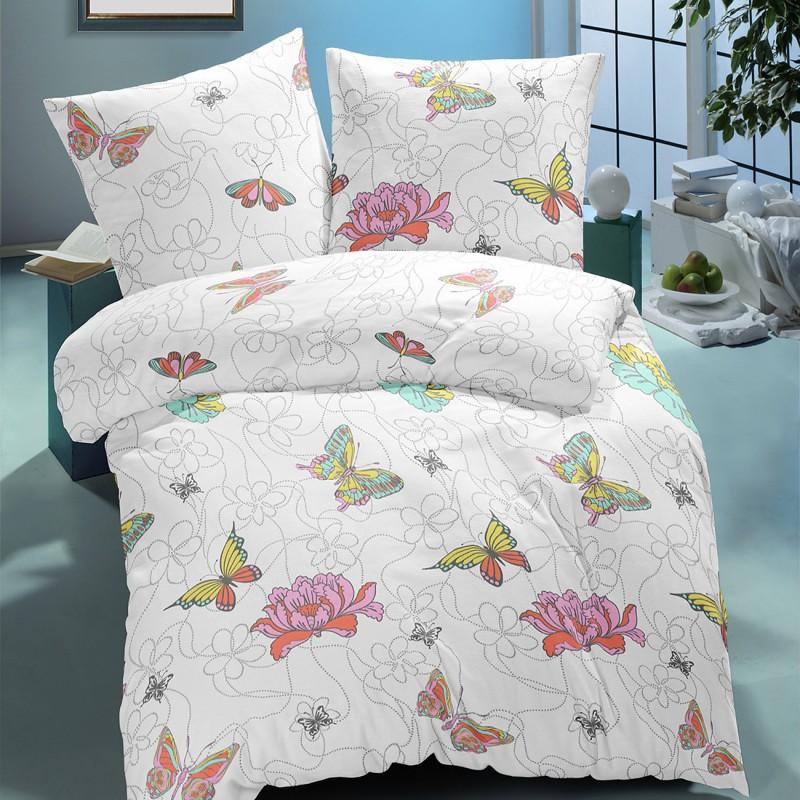 Butterfly les papillons parure de lit 100 coton for Le linge de jeanne housse de couette