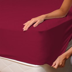 Bordeaux Red - Fitted Sheet / 100% Cotton Bedding