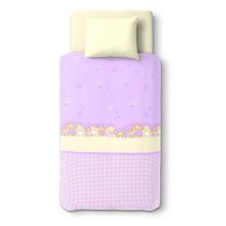 Les trois oursons - 100% Coton parure de lit pour bébé (Housse de couette et Taie d'oreiller)