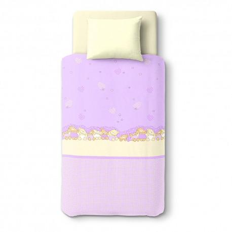 Three Baby Bears - 100% Cotton Cot Set (Duvet Cover & Pillow Case)