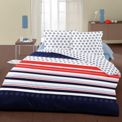 Navy Blue - Bed Linen Set, 100% Cotton (Duvet Cover & Pillow Cases)