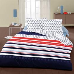 Нейви - 100% памук спален комплект (плик и калъфки), синьо