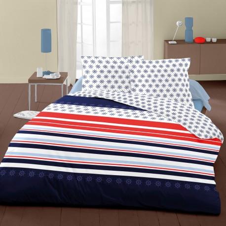 Navy Blue - Bed Linen Set, 100% Cotton (Duvet Cover & Pillow Cases)