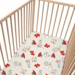 Tommy - Drap Housse / 100% Coton Linge de lit bébé