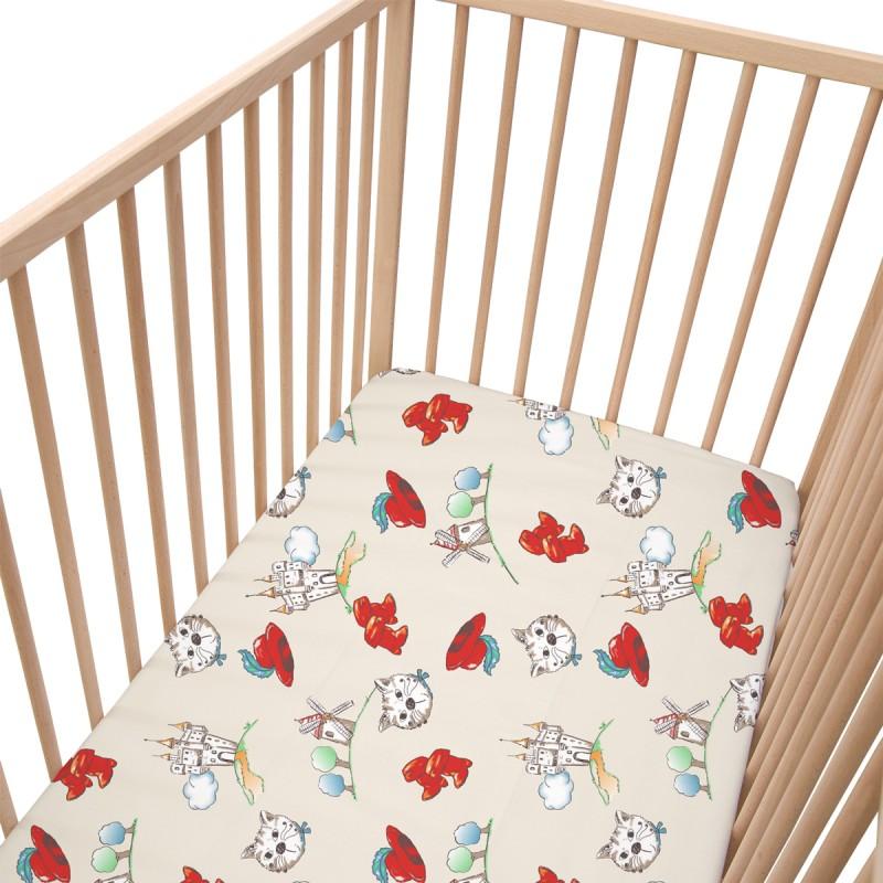 tommy le chat bott lot de 2 draps housse 100 coton linge de lit pour b b soulbedroom. Black Bedroom Furniture Sets. Home Design Ideas