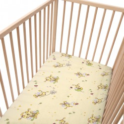 Les petites abeilles / Lot de 2 Draps Housse - 100% Coton linge de lit pour bébé