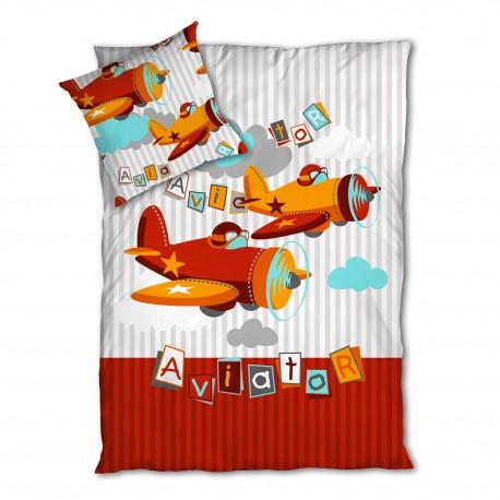 Aviator / Planes - Bed Linen Set, 100% Cotton (Duvet Cover & Pillow Cases)