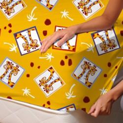 Girafes - Drap Housse / 100% Coton Linge de Lit