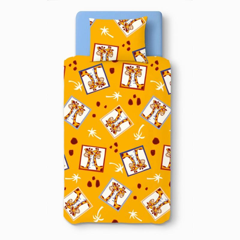 Girafes 100 coton parure de lit pour b b housse de - Housse de couette pour lit bebe ...