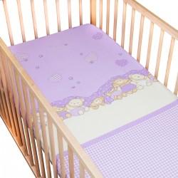 Les trois oursons / Lot de 2 Draps Housse - 100% Coton linge de lit pour bébé