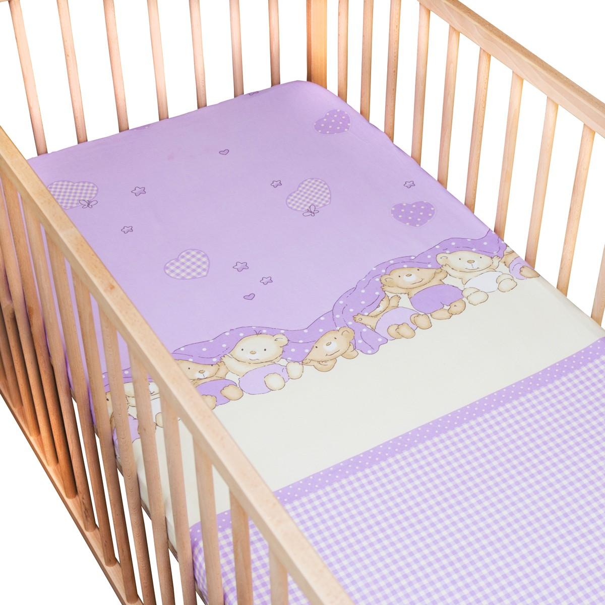 les trois oursons lot de 2 draps housse 100 coton linge de lit pour b b soulbedroom. Black Bedroom Furniture Sets. Home Design Ideas