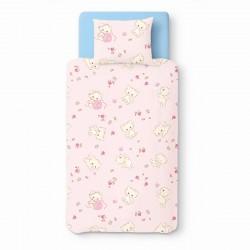 Rose Kittens - 100% Coton parure de lit pour bébé (Housse de couette et Taie d'oreiller)