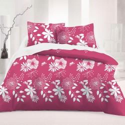 Les Fleurs Coquettes REV - 100% Coton Parure de Lit (Housse de couette et Taies d'oreiller)