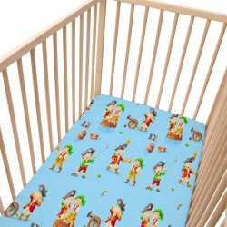 Pirates / Lot de 2 Draps Housse - 100% Coton linge de lit pour bébé et enfant