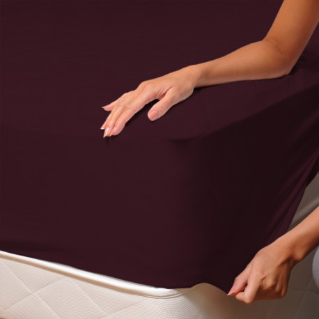 Aubergine (Teffer) - Fitted Sheet / 100% Cotton Bedding