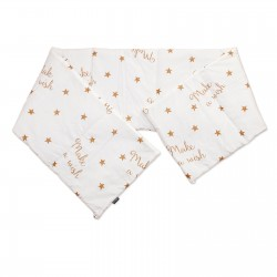 Baby Make a wish - Cot / Crib Bumper Pad Half