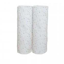 Les Cercles colorés / Lot de 2 Draps Housse - 100% Coton linge de lit pour bébé