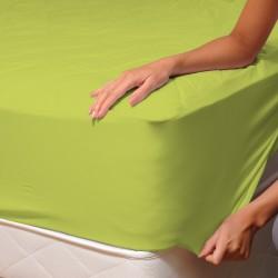Vert - Drap Housse / 100% Coton Linge de Lit