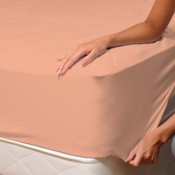 Peach Pink (Lianne) - Fitted Sheet / 100% Cotton Bedding