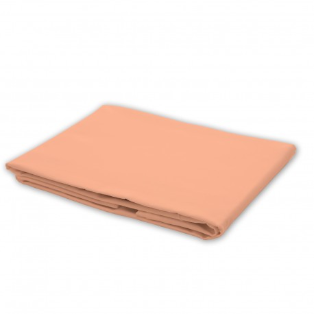 Peach pink - Flat Sheet / 100% Cotton Bedding