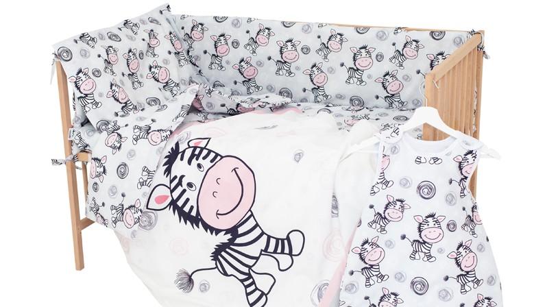 Zebra - 100% Cotone Biancheria per culle e lettini bambino (Copripiumino e Federa)
