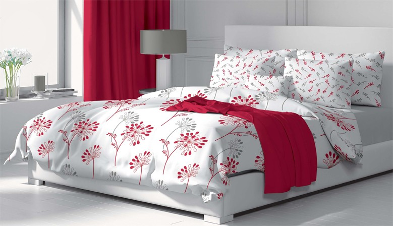 Изабела - 100% памук спален комплект (плик и калъфки), многоцветен