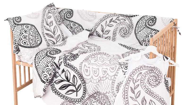 Sofia - 100% Coton parure de lit pour bébé (Housse de couette et Taie d'oreiller)