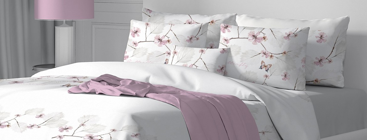 Butterfly - Bed Linen Set, 100% Cotton (Duvet Cover & Pillow Cases)