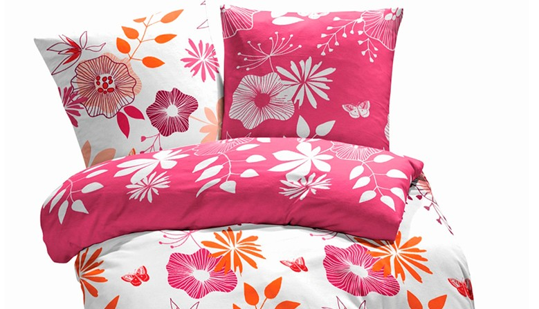 Coquettes Flowers - Bed Linen Set, 100% Cotton (Duvet Cover & Pillow Cases)