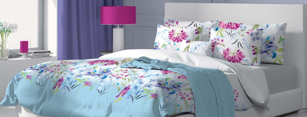 April - Bed Linen Set, 100% Cotton (Duvet Cover & Pillow Cases)