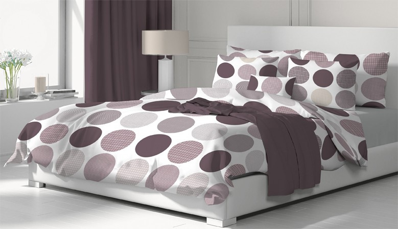 Ava  - Bed Linen Set, 100% Cotton (Duvet Cover & Pillow Cases)